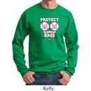 Mens Breast Cancer Awareness Sweatshirt Protect 2nd Base Sweat Shirt