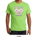 Mens Breast Cancer Shirt Protect 2nd Base Organic Tee T-Shirt