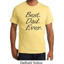 Mens Dad Shirt Best Dad Ever Black Print Organic Tee T-Shirt