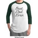 Mens Dad Shirt Best Dad Ever Black Print Raglan Tee T-Shirt