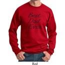 Mens Dad Sweatshirt Best Dad Ever Black Print Sweat Shirt