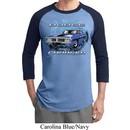 Mens Dodge Shirt Blue Dodge Charger Raglan Tee T-Shirt