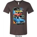 Mens Dodge Shirt Challenger Trio Tri Blend V-neck Tee T-Shirt