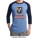 Mens Dodge Shirt Ram Hemi Logo Raglan Tee T-Shirt