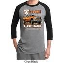 Mens Dodge Shirt Ram Hemi Trucks Raglan Tee T-Shirt