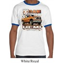 Mens Dodge Shirt Ram Hemi Trucks Ringer Tee T-Shirt