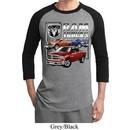 Mens Dodge Shirt Ram Trucks Raglan Tee T-Shirt