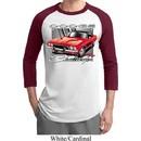 Mens Dodge Shirt Red Challenger Raglan Tee T-Shirt