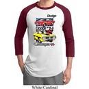 Mens Dodge Shirt Vintage Chargers Raglan Tee T-Shirt