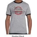 Mens Dodge Shirt Vintage Dodge Sign Grey/Black Ringer Tee T-Shirt
