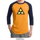 Mens Fallout Shirt Radioactive Triangle Raglan Tee T-Shirt