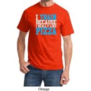 Mens Fitness Shirt I Train For Pizza Tee T-Shirt