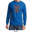 Mens Fitness Shirt Id Flex Long Sleeve Tee T-Shirt