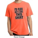 Mens Fitness Shirt Id Flex Pigment Dyed Tee T-Shirt