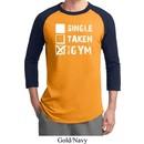 Mens Fitness Shirt Single Taken At The Gym Raglan Tee T-Shirt