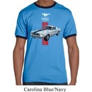 Mens Ford Shirt Red Stripe Mustang 50 Years Ringer Tee T-Shirt