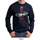 Mens Ford Sweatshirt Red Stripe Mustang 50 Years Sweat Shirt
