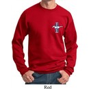Mens Ford Sweatshirt The Legend Lives Crest Pocket Print Sweat Shirt