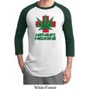 Mens Funny Shirt Natures Medicine Raglan Tee T-Shirt