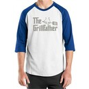 Mens Funny Shirt The Grill Father Raglan Tee T-Shirt
