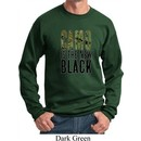 Mens Funny Sweatshirt Camo is the New Black Sweat Shirt