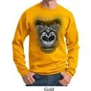 Mens Gorilla Sweatshirt Big Gorilla Face Sweat Shirt