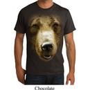 Mens Grizzly Bear Shirt Big Grizzly Bear Face Organic T-Shirt