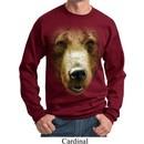 Mens Grizzly Bear Sweatshirt Big Grizzly Bear Face Sweat Shirt