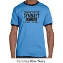 Mens Gymnastics Shirt Competitive Gymnast Ringer Tee T-Shirt