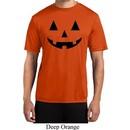 Mens Halloween Shirt Black Jack O Lantern Moisture Wicking Tee T-Shirt