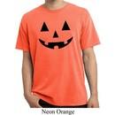 Mens Halloween Shirt Black Jack O Lantern Pigment Dyed Tee T-Shirt