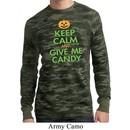 Mens Halloween Shirt Give Me Candy Long Sleeve Thermal Tee T-Shirt