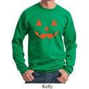 Mens Halloween Sweatshirt Orange Jack O Lantern Sweat Shirt