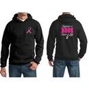 Mens Hoodie Pink Ribbon Save a Life Front & Back Print Hoody