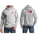 Mens Hoodie Pink Ribbon Walkin For a Cure Front & Back Print Hoody