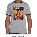 Mens Jimi Hendrix Shirt Hendrix Colorful Ringer Tee T-Shirt