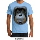 Mens Orangutan Shirt Big Orangutan Face Organic T-Shirt