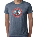 Mens Peace Shirt Give Peace a Chance Burnout Tee T-Shirt