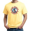 Mens Peace Shirt Give Peace a Chance Organic Tee T-Shirt