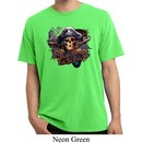 Mens Pirate Shirt Tell No Tales Pirate Pigment Dyed Tee T-Shirt