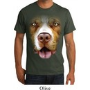 Mens Pit Bull Shirt Big Pit Bull Face Organic T-Shirt