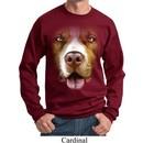 Mens Pit Bull Sweatshirt Big Pit Bull Face Sweat Shirt