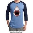 Mens Shark Shirt 3D Shark Raglan Tee T-Shirt