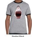 Mens Shark Shirt 3D Shark Ringer Tee T-Shirt