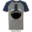 Mens Shark Shirt Big Shark Face Tri Blend T-Shirt