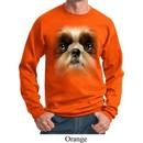 Mens Shih Tzu Sweatshirt Big Shih Tzu Face Sweat Shirt