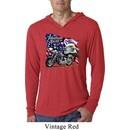 Mens Shirt American Pride Motorcycle Lightweight Hoodie Tee T-Shirt