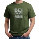 Mens Shirt Be The Change Organic Tee T-Shirt