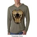 Mens Shirt Big Cobra Snake Face Lightweight Hoodie Tee T-Shirt