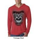 Mens Shirt Big Gorilla Face Lightweight Hoodie Tee T-Shirt
